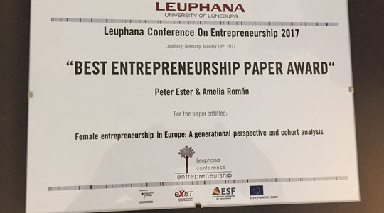 Award voor paper van Peter Ester over vrouwelijke ondernemers