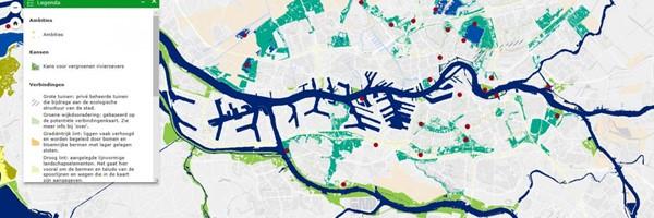 Natuurkaart Rotterdam