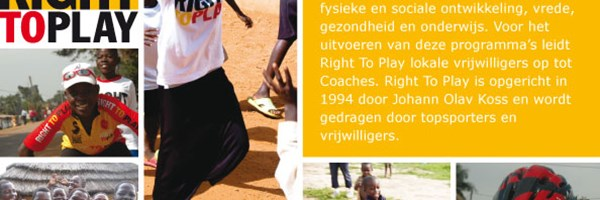 Stage lopen bij Stichting Right To Play!
