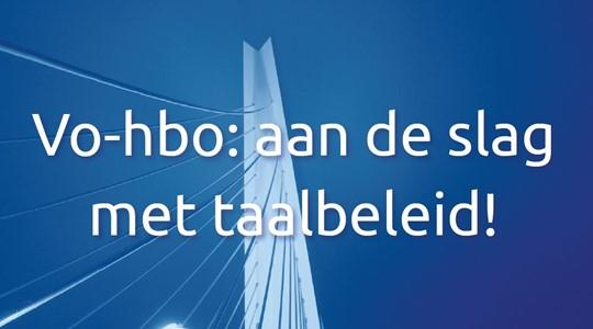 Vo-hbo: aan de slag met taalbeleid!