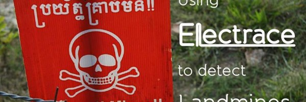 Using Electrace to detect landmines