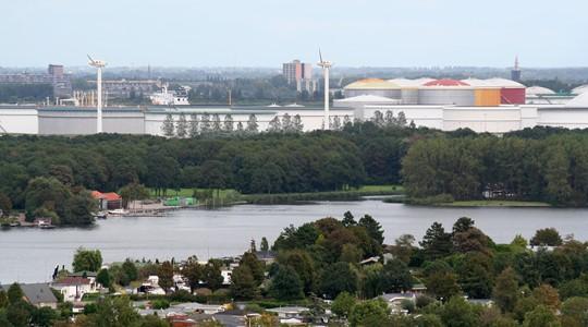 De haven van Rotterdam
